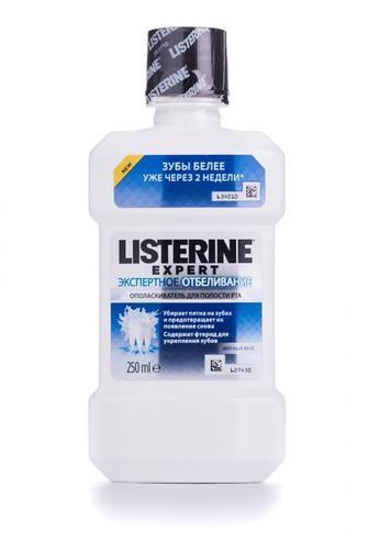 Ополаскиватель для полости рта Listerine Экспертное отбеливание 250мл