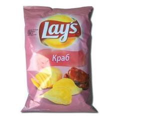 "Скидка 25% ▷ Чіпси картопляні Краб, Сметана і зелень, ""Lay's"", 200 г"