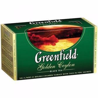 Чай Earl Grey Fantasy/Golden Ceylon, чорний, 5 ф/п х 2 г Greenfield