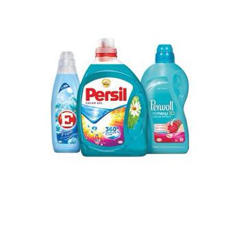 Гель, Засіб, Ополіскувач для прання Персіл 2,19 л, засіб для делікатного прання Персіл 2 л, ополіскувач для білизни Е 1 л