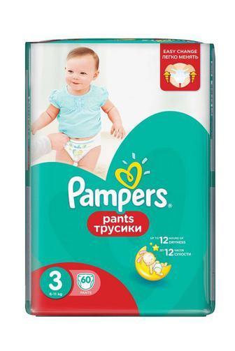 Детские Подгузники-трусики PAMPERS р3 6-11кг 60 шт