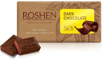 Шоколад черный 56%, молочный Рошен 90 г
