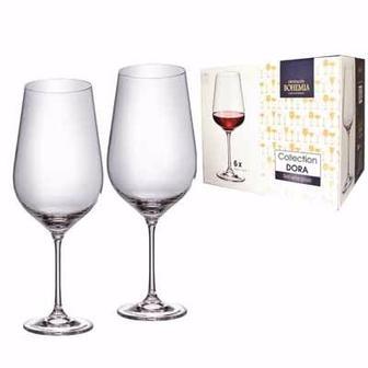 Набор бокалов для вина 6*360/450 мл, Dora, Bohemia