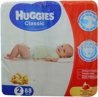 Подгузники Huggies Classic 2 3-6 кг 88 шт.