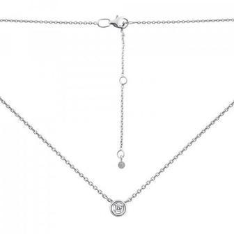 Серебряное колье с бриллиантом. Артикул 819000/12/1/8001