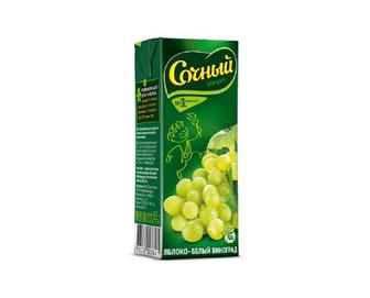 Нектар «Сочный фрукт» яблуко-білий виноград, 0,2 л