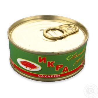 Ікра Сахалінська лососева зерниста червона 100г