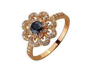 Золотое кольцо с фианитами Артикул 01-17522585