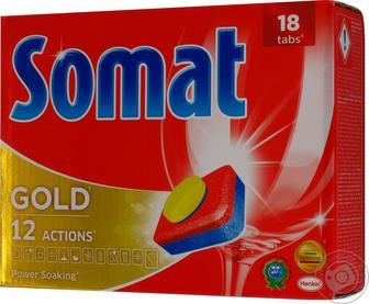 Таблетки для мытья посуды Somat Gold в посудомоечной машине, 18шт
