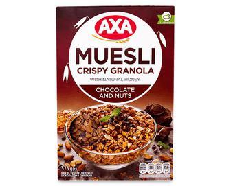 Мюслі АХА, медові з шоколадом хрусткі, 375г