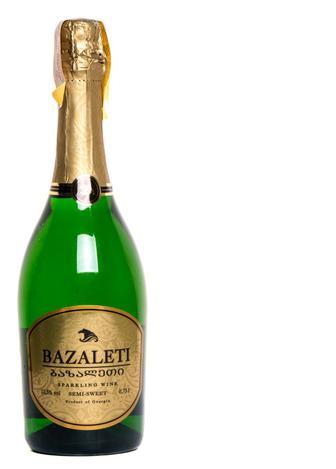 Вино ігристе Bazaleti біле напівсолодке, 0,75 л