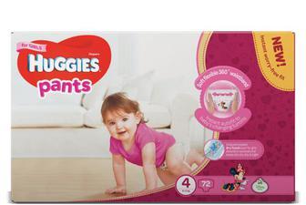 Підгузки-трусики Huggies для дівчаток 4 (9-14 кг) 72 шт./уп