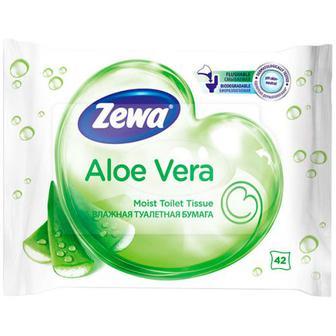 Папір туалетний Zewa Aloe Vera вологий 42шт