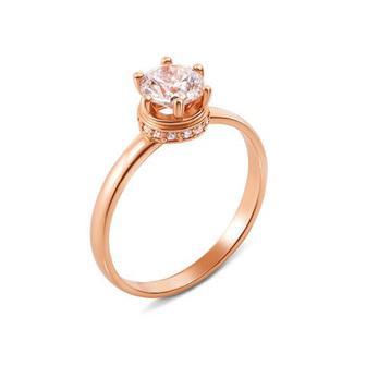 Скидка 55% ▷ Золотое кольцо с фианитами Swarovski Zirconia. Артикул 12144/SW