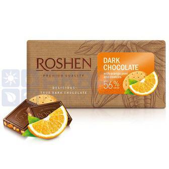 Шоколад Чорний Цедра з печивом 56% Рошен 90г