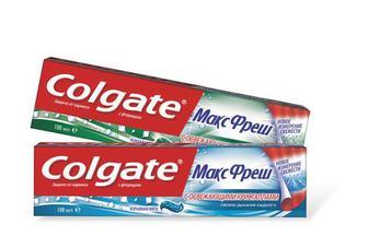 """Зубна паста """"Colgate"""" МаксБлиск, МаксФреш, 100мл"""