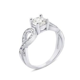 Серебряное кольцо с фианитами (1RI56645-R/12/1)
