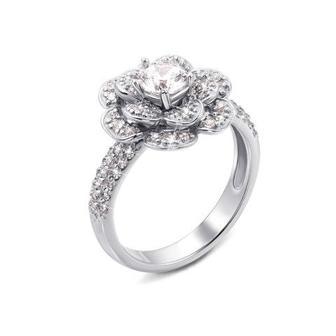 Золотое кольцо с фианитами. Артикул 12935/02/1/70 (12935/б)