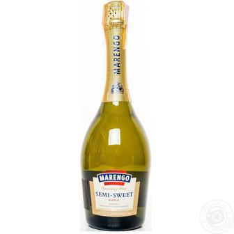 Вино ігристе Маренго Семі-світ, біле 0,75л