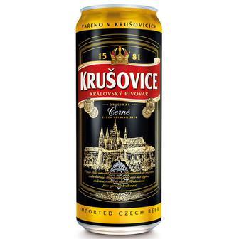 Пиво Krusovice темное фильтрованное пастеризованное 3,8% ж/б 0,5л