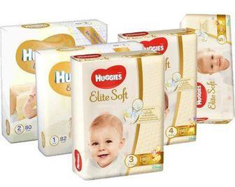 Подгузники Huggies Elite Soft 1,2,3,4,5р