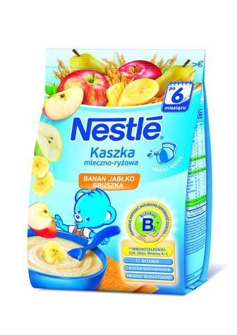 КАША молочна Банан яблуко абрикос, Банан яблуко груша, 230 г NESTLE
