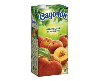 Сік «Садочок» персиковий з м'якоттю, 0,95л