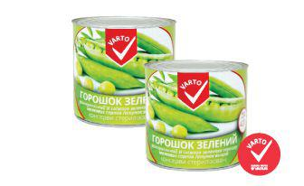 Горошок зелений консерви стерилiзованi ВАРТО 420 г