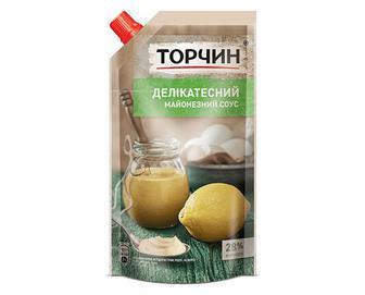 Соус «Торчин» майонезний «Делікатесний» 28% жиру, 300г