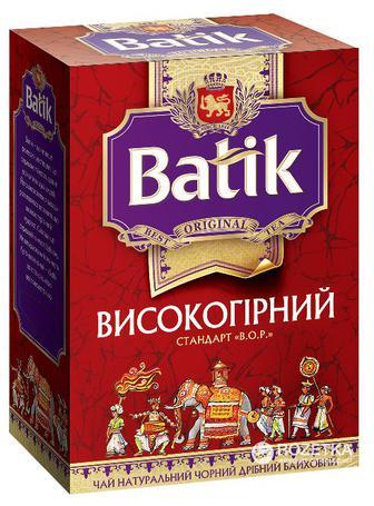 Чай чорний високогірний Batik 100г