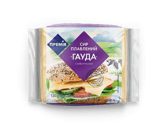 Сир плавлений «Премія»® «Гауда» скибочками, 150г