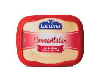 Скидка 33% ▷ Сир плавлений Lactima 52,5% жиру «Емменталь», 130г