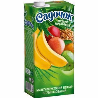 Нектар мультифруктовый витаминизированный с мякотью Садочок 0,95л