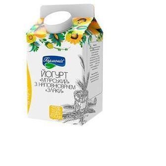 Йогурт Мгарский с наполнителем Злаки 2,5% Гармонія, 450г