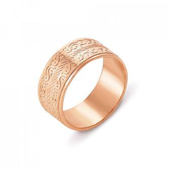 Обручальное кольцо с алмазной гранью. Артикул 10101
