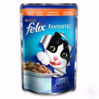 Корм для котів Фантастік або Сенсейшнз Фелікс 100г