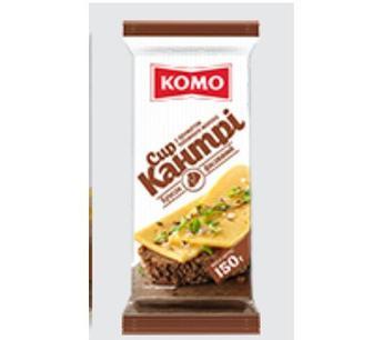 Сир КОМО Кантрі 50% 150 гр брус