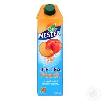Напій безалкогольний Холодний чай NESTEA зі смаком персика або лимону 0,95 л