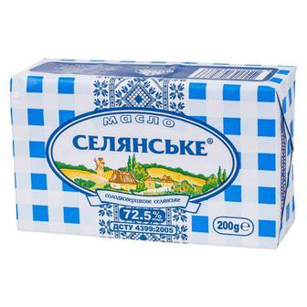 Скидка 24% ▷ Масло солодковершкове 82% Селянське 200 г