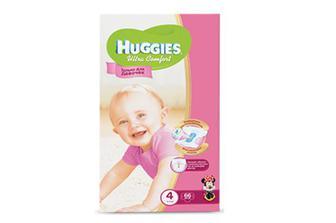 Підгузки  Huggies Ultra Comfort для дівчаток 4 (8–14 кг) 66 шт./уп.