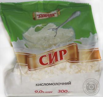 Сир кисломолочний Злагода 9% 300г