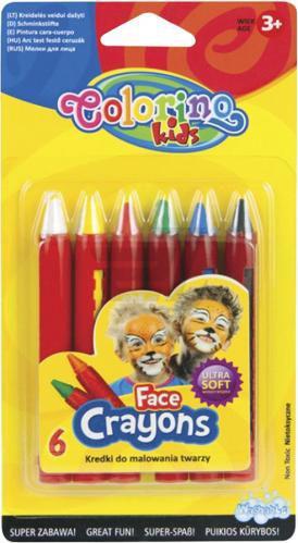 Фарби для обличчя 6 кольорів 32629PTR COLORINO
