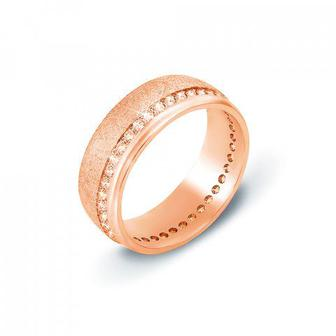 Обручальное кольцо с фианитами. Артикул 10134