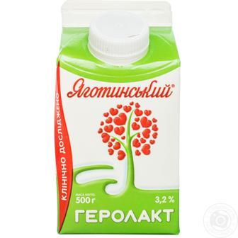 Напиток кисломолочный Яготинский Геролакт 3.2% 500г