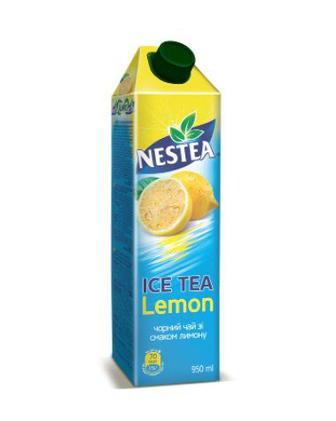 Холодний чай зі смаком лимона або персика Nestea 0,95л