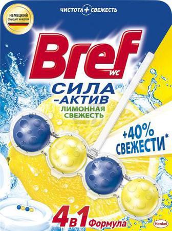Блок для унітаза Bref Сила-Актив Лимонна свіжість 50 г