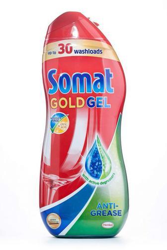 Средство для мытья посуды гель Somat Multi-Perfect Gold в посудомоечной машине, 600мл