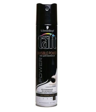 Лак для волосся Тафт Power 5 250 мл Невидима фікс.