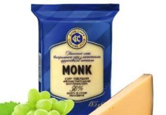 Сыр твердый Монастырский выдержанный 50% Клуб Сыра, 185 г