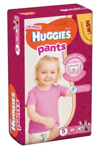 Трусики-подгузники Huggies Pants для девочек р5 12-17 кг 34 шт